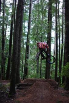 Photo of jumper at B & K dirt jumps