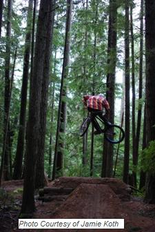B & K Dirt Jumps in Roberts Creek