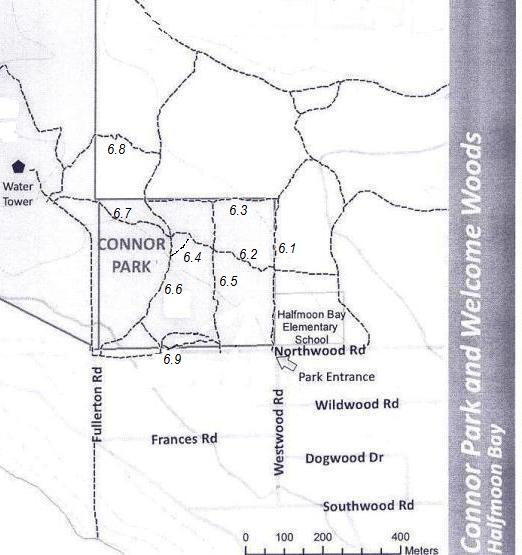 Map of Connor Park trails