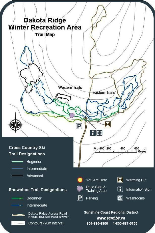 Dakota Ridge trail map