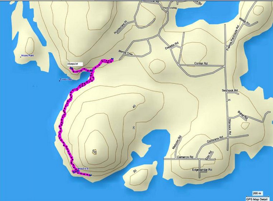 Francis Point map using Mapsource
