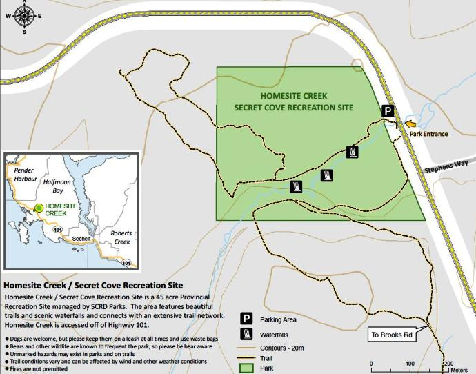Homesite Creek Trails map