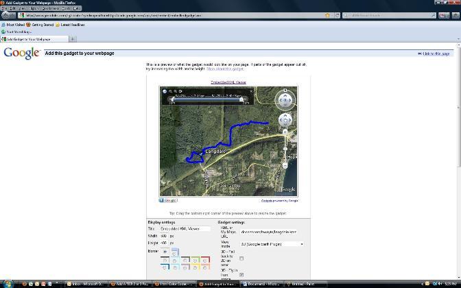 Image of KML Viewer gadget
