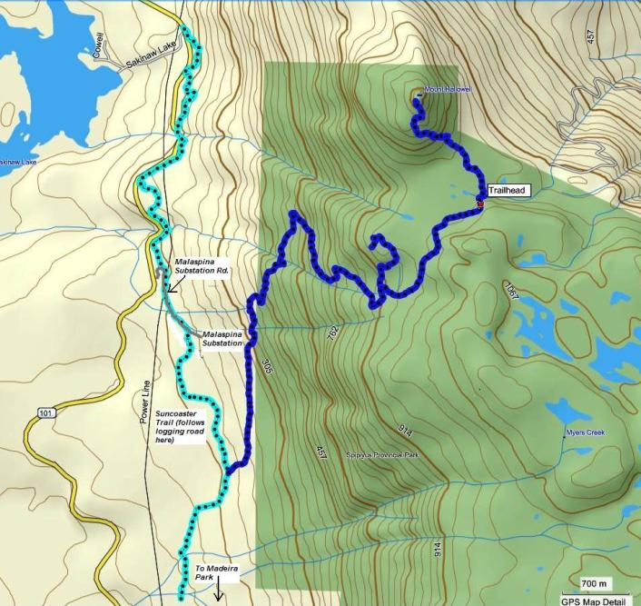 Mount Hallowell map