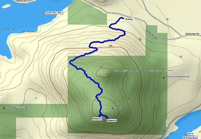 Mt. Daniel trail map