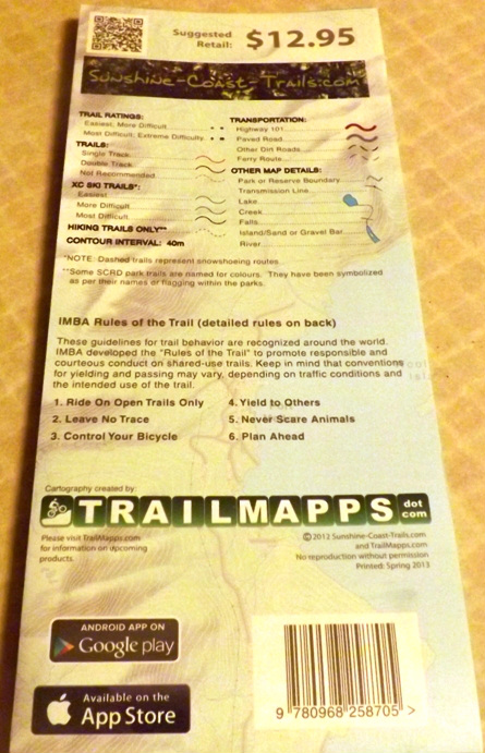 Water-resistant trail map.