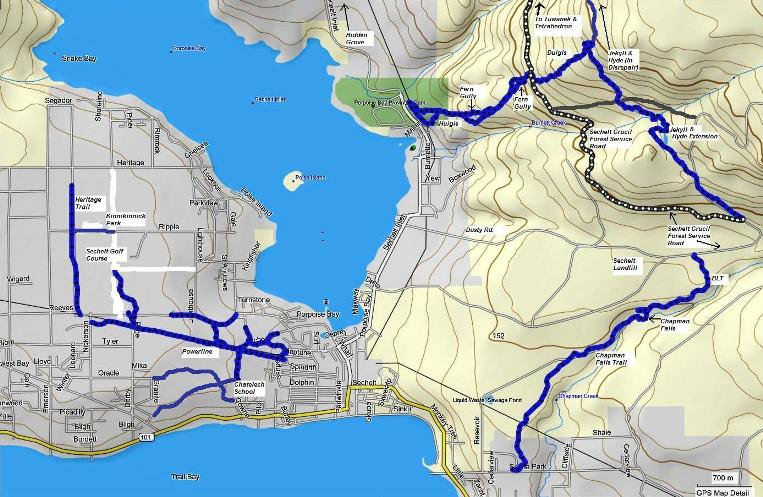 Sechelt trail map