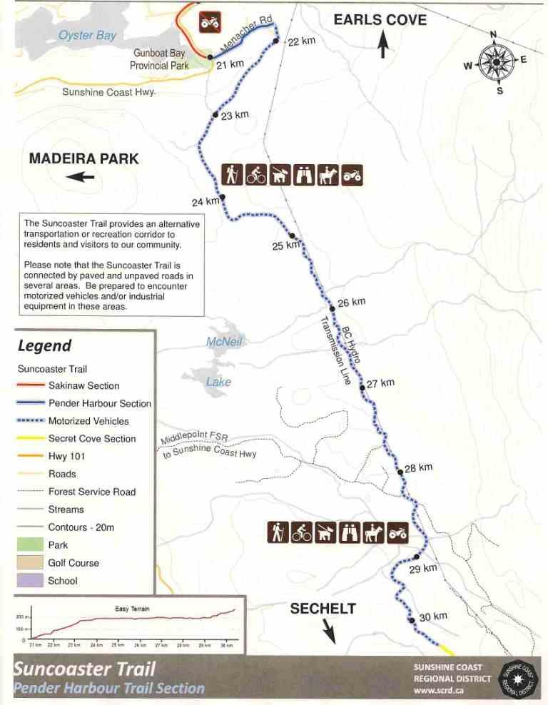 Suncoaster Trail - Madeira Park Section