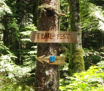Trailfest sign