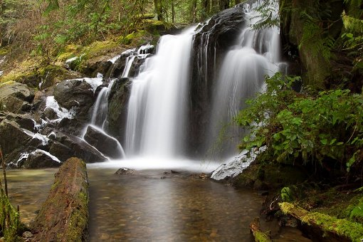 Homesite Creek waterfall by Allen Van Velzen