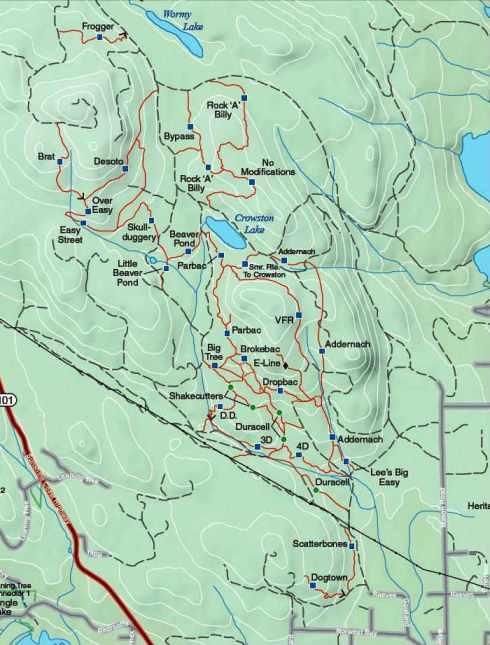 Sunshine Coast Trails Map