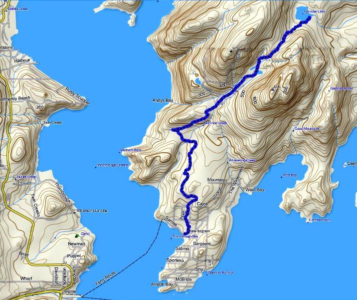Gambier Lake trail map