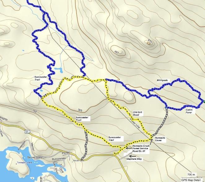 Homesite Creek Loop Route