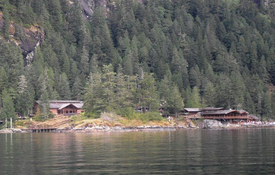 Malibu Club at the entrance to Princess Louisa Inlet
