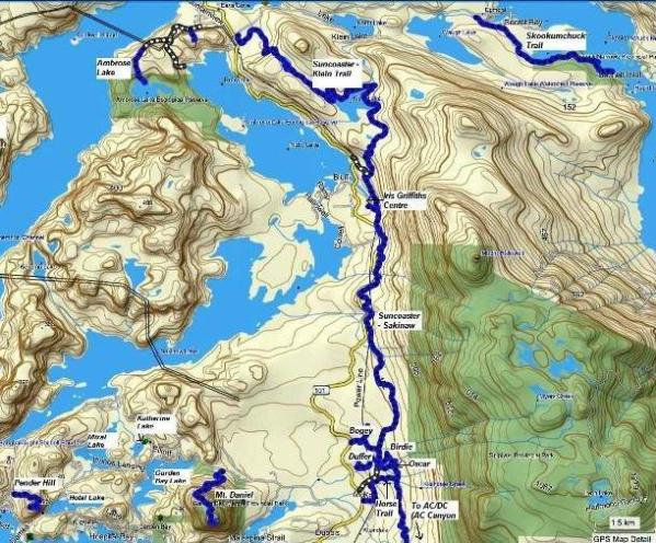 Pender Harbour Trail Map