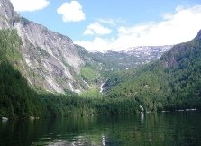 Princess Louisa Inlet with Chatterbox Falls in the distance.