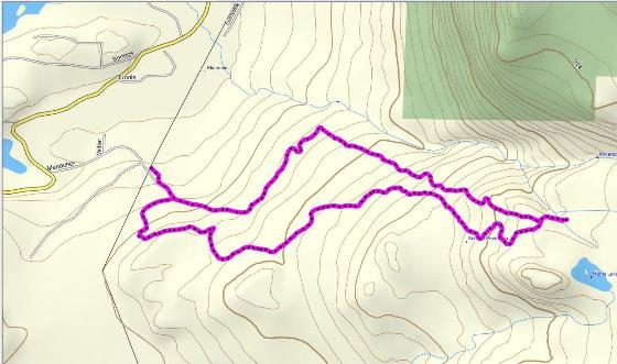 Map of Rocky Mountain Luge trail in Madeira Park