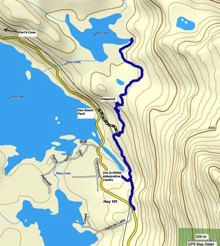 Ruby Lake Klein Lake Traerse map