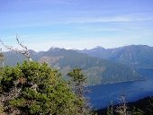 View of Sechelt Inlet from the backside of the Mount Hallowell peak