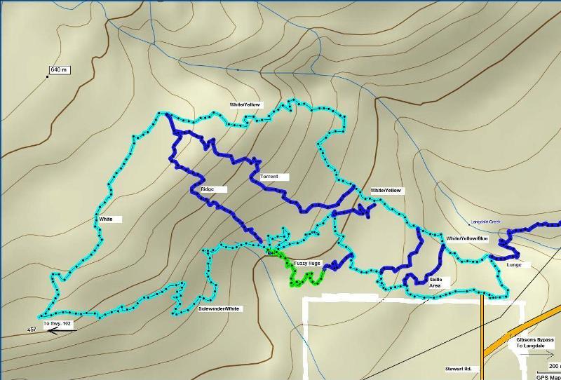 Sprockids White trail map