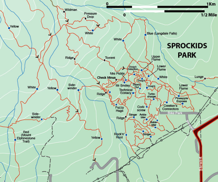 Sprockids Trail Map