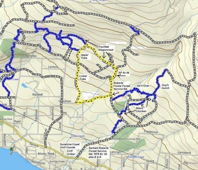 Trailfest Wagonroad Route